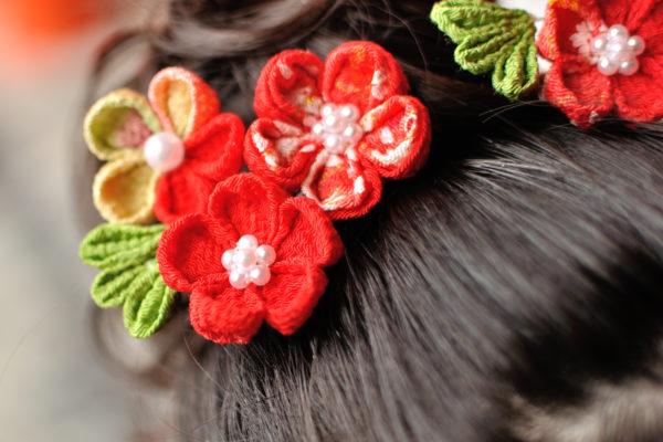 七五三の髪飾り